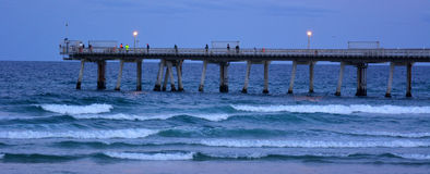Gold- Coastpier am Spucken - Queensland Australien Lizenzfreies Stockfoto