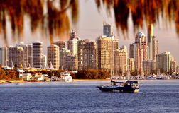 Gold- CoastSkyline Lizenzfreie Stockbilder