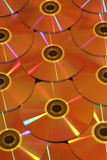 Gold coated DVD disks Royalty Free Stock Images