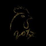 Gold cock. royalty free illustration