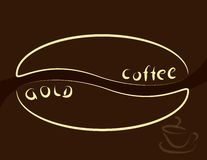Gold coffee Royalty Free Stock Images