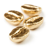 Gold coffee beans Stock Image