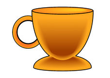 Gold Coffee Cup Royalty Free Stock Images
