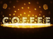 Gold coffee. Royalty Free Stock Photography