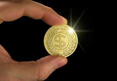 Gold Coin Royalty Free Stock Photo