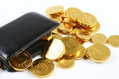 Gold Coin. A pile of gold coins isolated on a white background Royalty Free Stock Photography