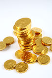 Gold Coin. A pile of gold coins isolated on a white background Royalty Free Stock Images