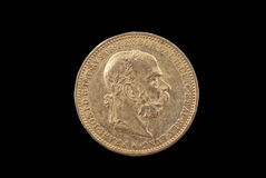 Gold coin from Austria-Hungary 1894 Stock Images