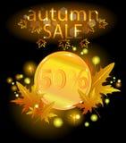 Gold coin. Autumn sale. Royalty Free Stock Photos
