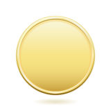 Gold Coin with Copy Space Stock Image