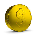 Gold Coin. 3d image. Isolated white background Royalty Free Stock Photos