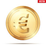 Gold coin with euro sign. Royalty Free Stock Image