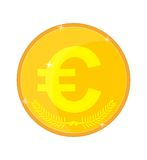 Gold coin with the euro symbol Stock Photo