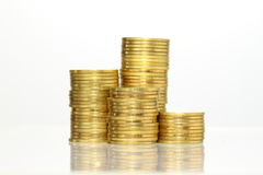 Gold coin heap Stock Images