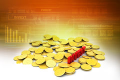 Gold coin with investment concept Stock Images
