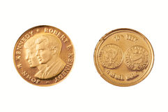 Gold coin kennedy brothers Royalty Free Stock Photo