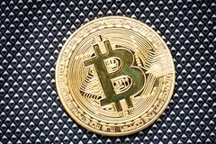 Bitcoin logo gold coin last bitcoin symbol of crypto currency and technology blockchain block chain stock photo