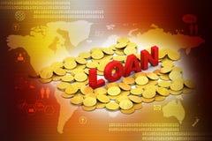 Gold coin with loan concept Stock Photos