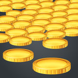 Gold coin a lot Stock Photos