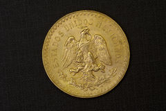 Gold coin from Mexico Stock Image