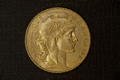 Gold coin from Mexico Royalty Free Stock Photography