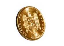 Gold coin modern Stock Images