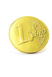 Gold coin one euro Royalty Free Stock Photos