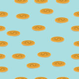 Gold coin pattern Stock Photo