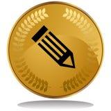 Gold Coin - Pencil Royalty Free Stock Photos
