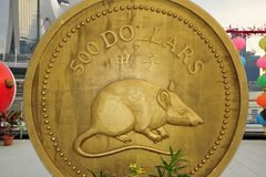 Gold coin of rat Royalty Free Stock Photography