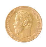 Gold coin of the Russian empire Stock Image