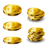 Gold coin set Stock Images