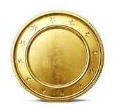 Coin. Gold coin sign isolated on a white backgrond. 3d illustration Royalty Free Stock Photos