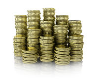 Gold coin stack Stock Images