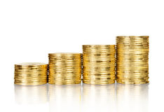 Gold coin stack Royalty Free Stock Photography