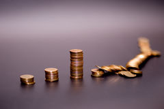 Gold coin stack Stock Photography