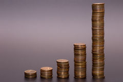 Gold coin stack Royalty Free Stock Photo