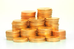 Gold coin stack Stock Image