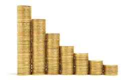 Gold coin stack Royalty Free Stock Images