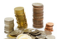 Gold coin stack Royalty Free Stock Image