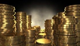 Gold Coin Stacks Royalty Free Stock Photos