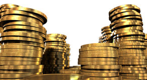 Gold Coin Stacks Royalty Free Stock Photo