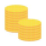 Gold Coin Stacks Halftone Dotted Icon stock illustration