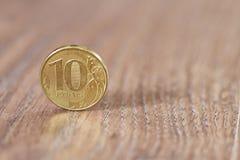 Gold coin ten robles Stock Image