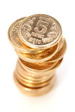 Gold coin tower Stock Photography