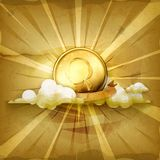 Gold coin vector background Stock Photo