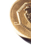 Gold coin on a white background Royalty Free Stock Images