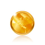 Gold coin Stock Image