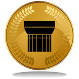 Gold Coin - Wings Royalty Free Stock Photography