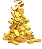 Gold coins. 3d illustration of gold coins on white background Stock Images